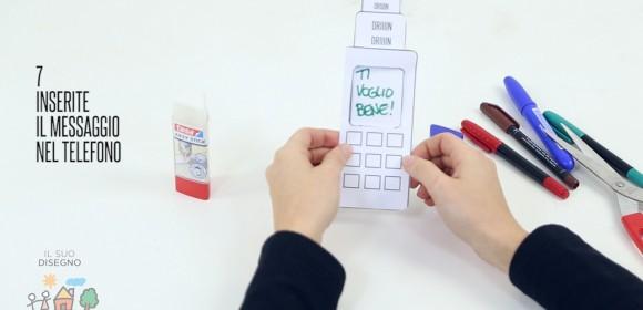 Telefono in carta per la festa del Papà! Personalizzalo con un SMS