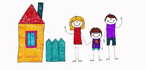Quanto e' importante come il bimbo disegna la sua famiglia?