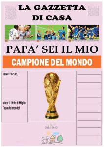giornale sportivo per la festa del papà